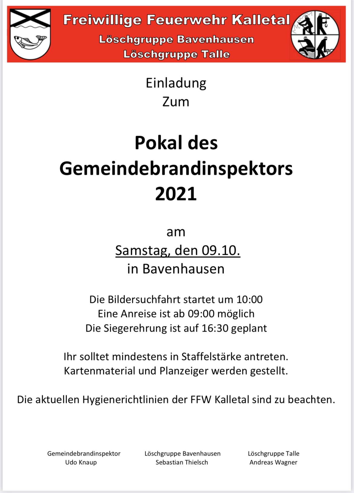 Read more about the article Pokal des Gemeindebrandinspektors